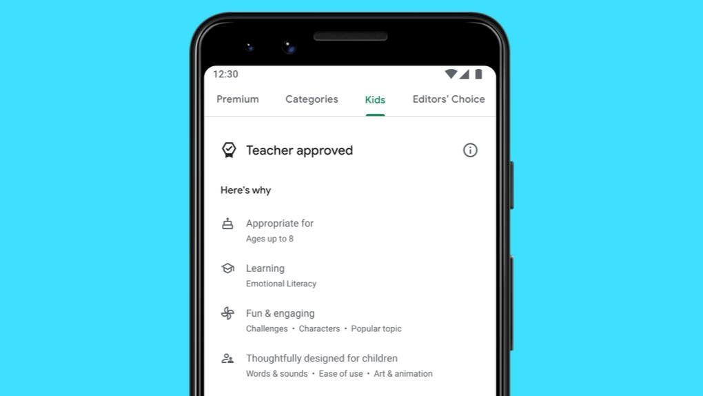 App-avdelning för barn på väg till Google Play