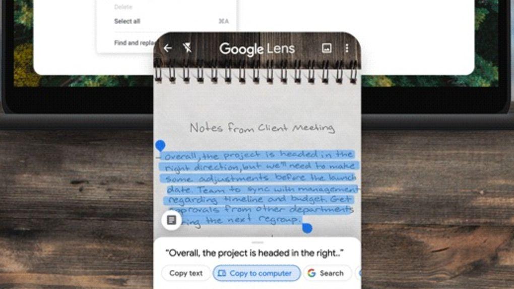 Nu kan Google Lens kopiera handskrift till datorskärmen