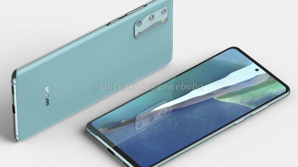 Samsung Galaxy S20 Fan Edition fastnar på pressbild i flera färger