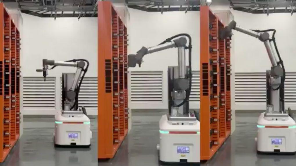 Alibabas robotar byter ut trasiga hårddiskar på fyra minuter
