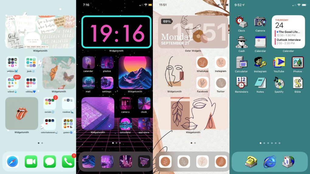 Appar för att smycka hemskärmen i IOS 14 populära