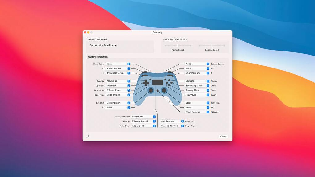 Programmet som låter dig styra Mac med en Playstation- eller Xbox-kontroll