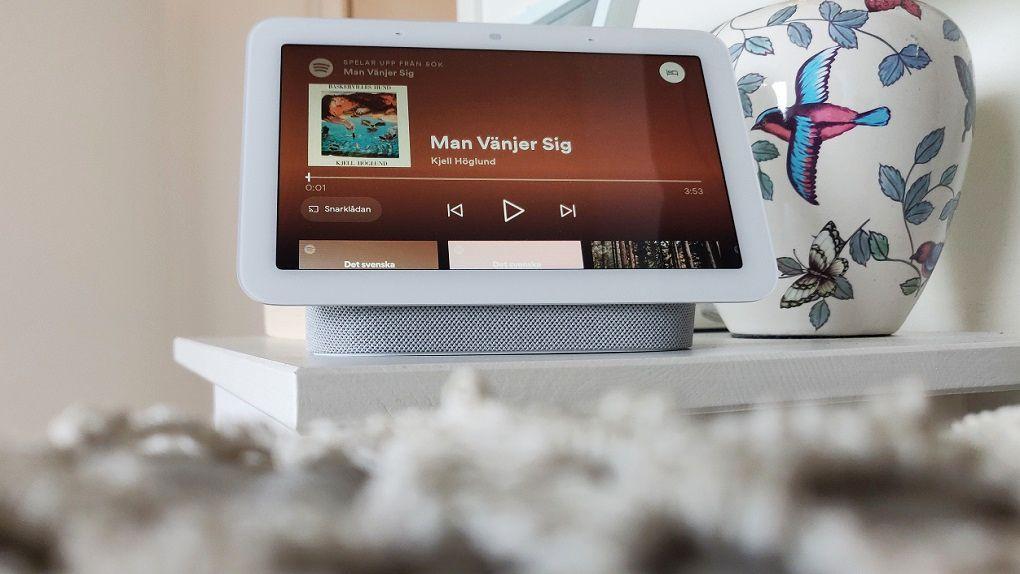 Nya Google Nest Hub passar utmärkt i sovrummet