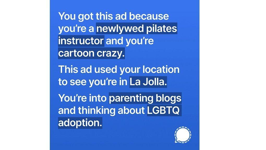Signal försökte använda Facebooks riktade annonser mot företaget
