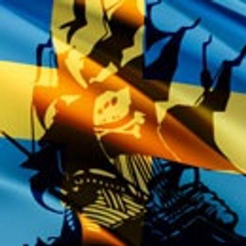 Pirate Bay-skepp på svensk flagga