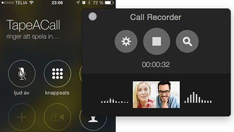 Spela in telefonsamtal