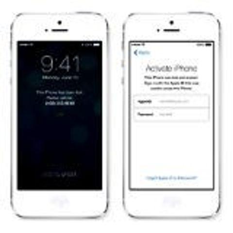 Aktiveringslåset i IOS 7 har minskat IOS-stölderna. Foto: Apple.
