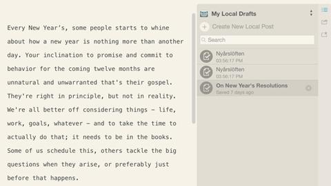 Dumpa webbläsaren när du bloggar