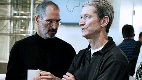 Steve Jobs och Tim Cook