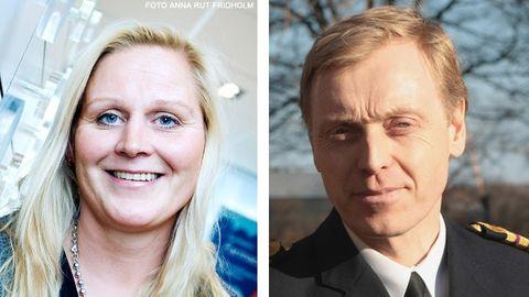 Elisbeth Stjernstoft, Apoteket, och Peter Haglind, Försvarsmakten.