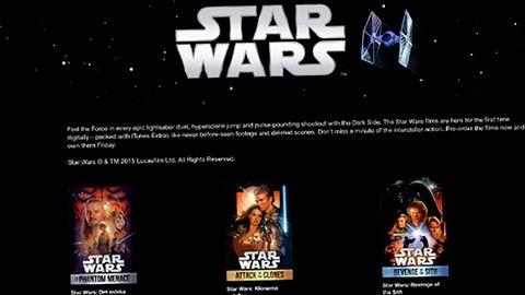Star Wars på Itunes