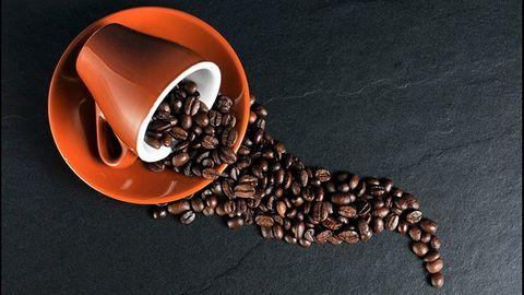 Kaffekopp med bönor