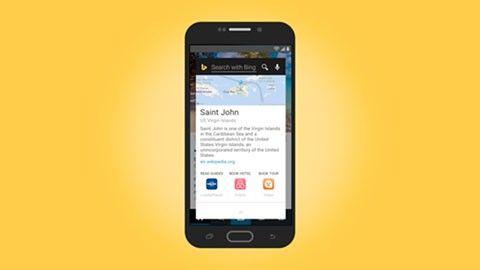Bing knycker sökfunktion från Android