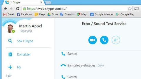 Skype utan program