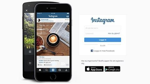 Instagram online på datorn