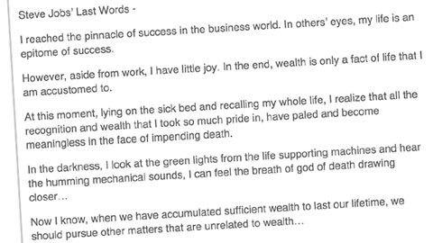 Fejkat Steve Jobs-citat