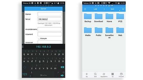Hämta filer med mobilen