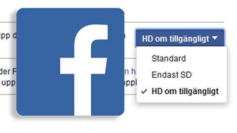 Tvinga Facebook till hög upplösning