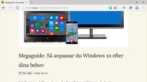 Surfa utan att bli störd med Microsofts läsvyn