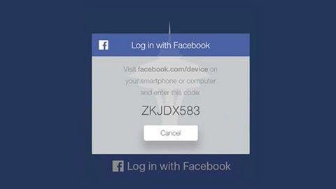 Facebook-login på Apple TV
