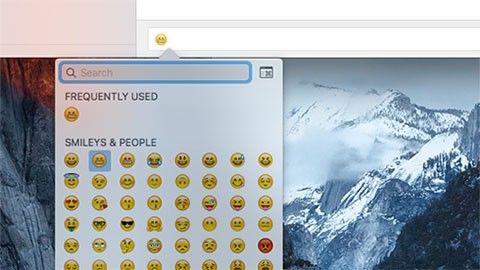 Emoji och symboler i OS X