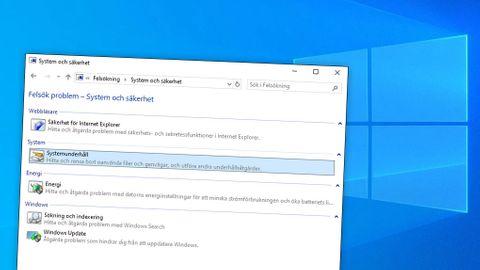 Windows felsökning