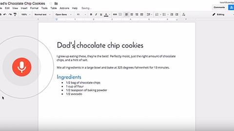Redigera i Google Docs med rösten