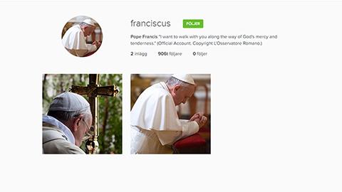 Påven Instagram