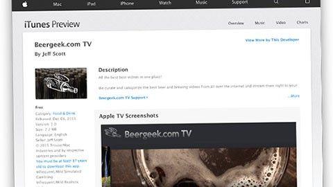 TV OS-appar på webben