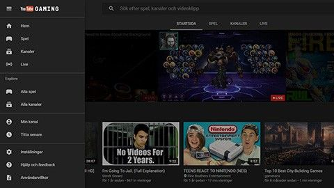 25 000 spel i ny Youtube-app
