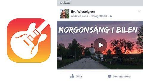 Låt delad på Facebook