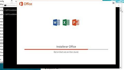 Installera utvalda delar av Office 2016