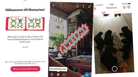 Snapchat Memories rullas ut