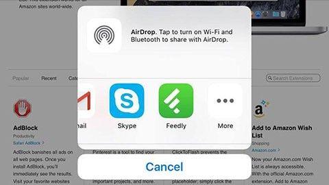 Safari-tillägg på IOS