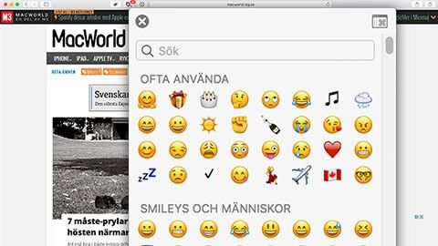 Emoji och symboler