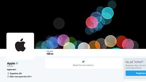 Apple på Twitter