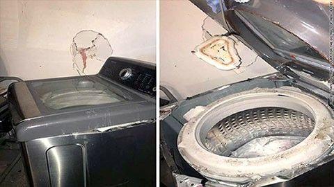 Epxloderande tvättmaskiner