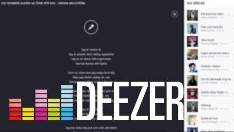 Kör karaoke i Deezer