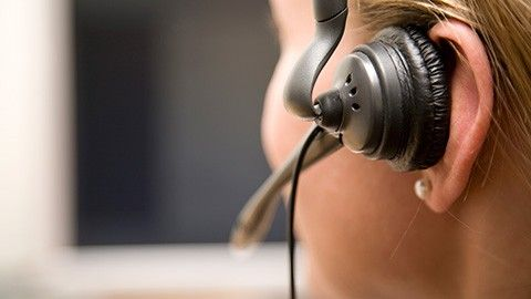 Kundtjänstpersonal med headset