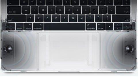 Högtalarna i nya Macbook Pro