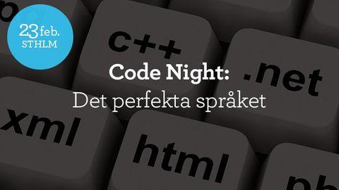 Code Night #8: Det perfekta språket