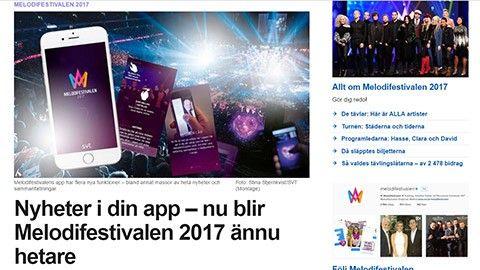 Följ Melodifestivalen i mobilen