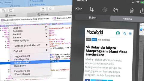 Skärmdump på Mac