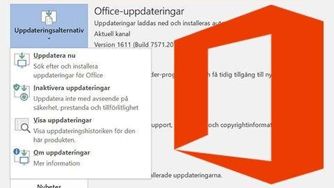 Så skippar du automatiska Office-uppdateringar