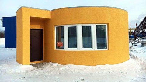 3d-skrivet hus