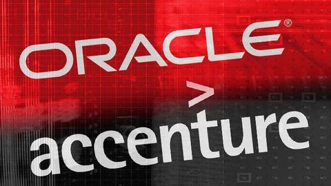 Oracles och Accentures logotyper