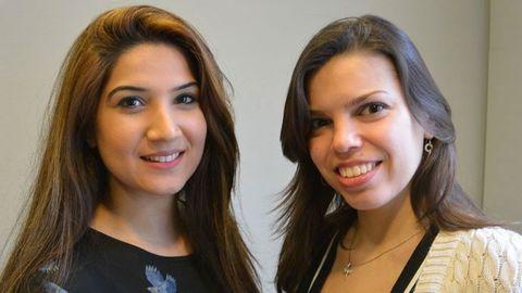 Ramsha Waseem och Lena Shervarly