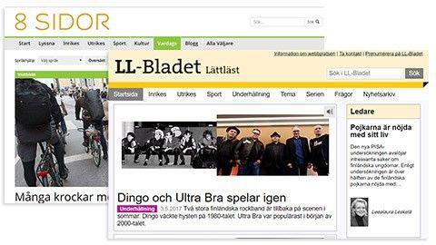 Två tidningar på lätt svenska