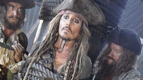 Johnny Depp som kapten Sparrow