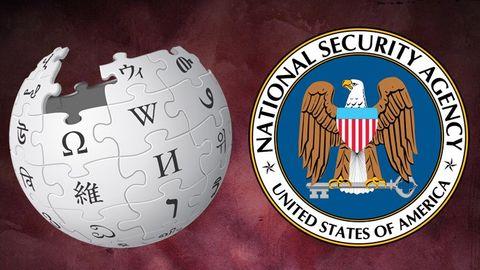 Wikipedias och NSA:s logotyper